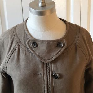 BCBG Modern Day Jacket Tan Khaki Size XS